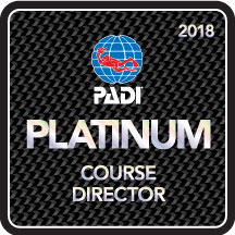 Phillip Hetherington PADI Platinum Course Director Award 2018