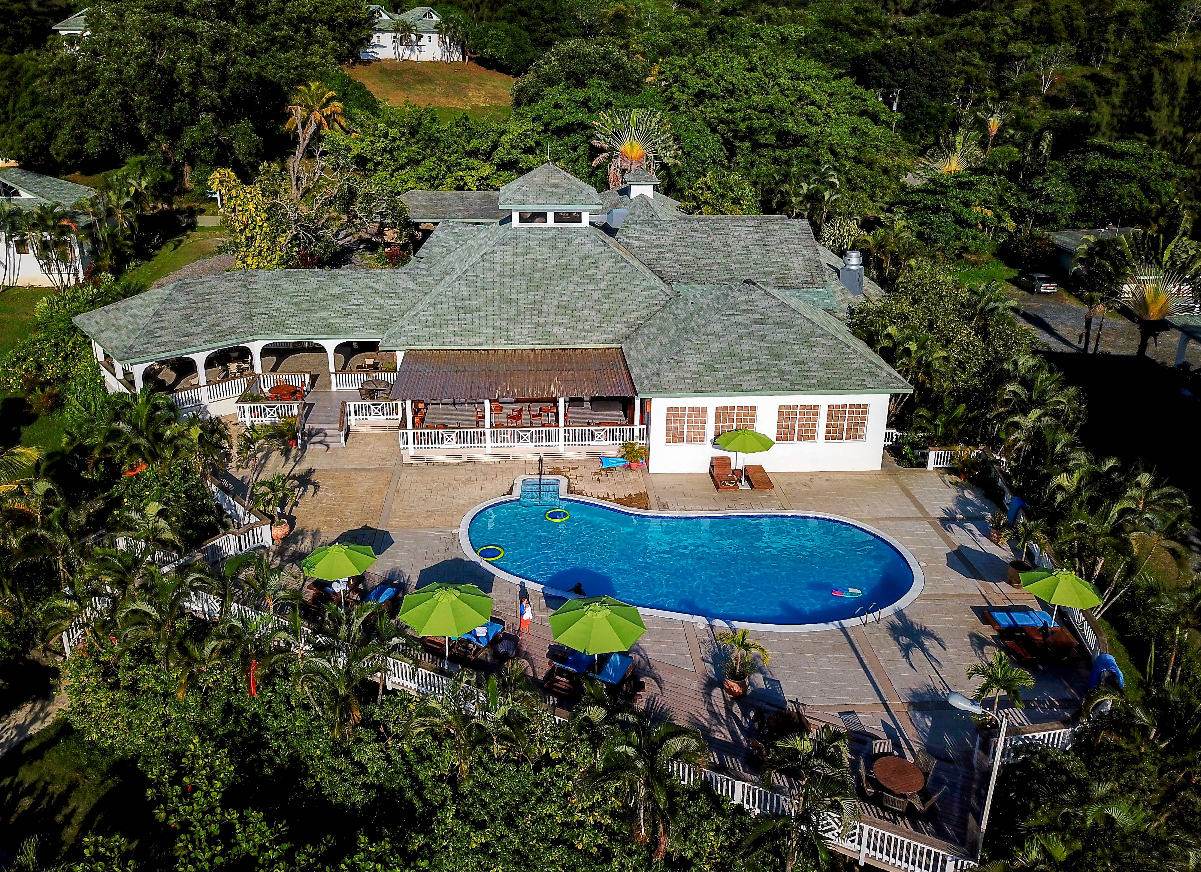 Turquoise Bay Dive and Beach Resort Pool and Resteraunt